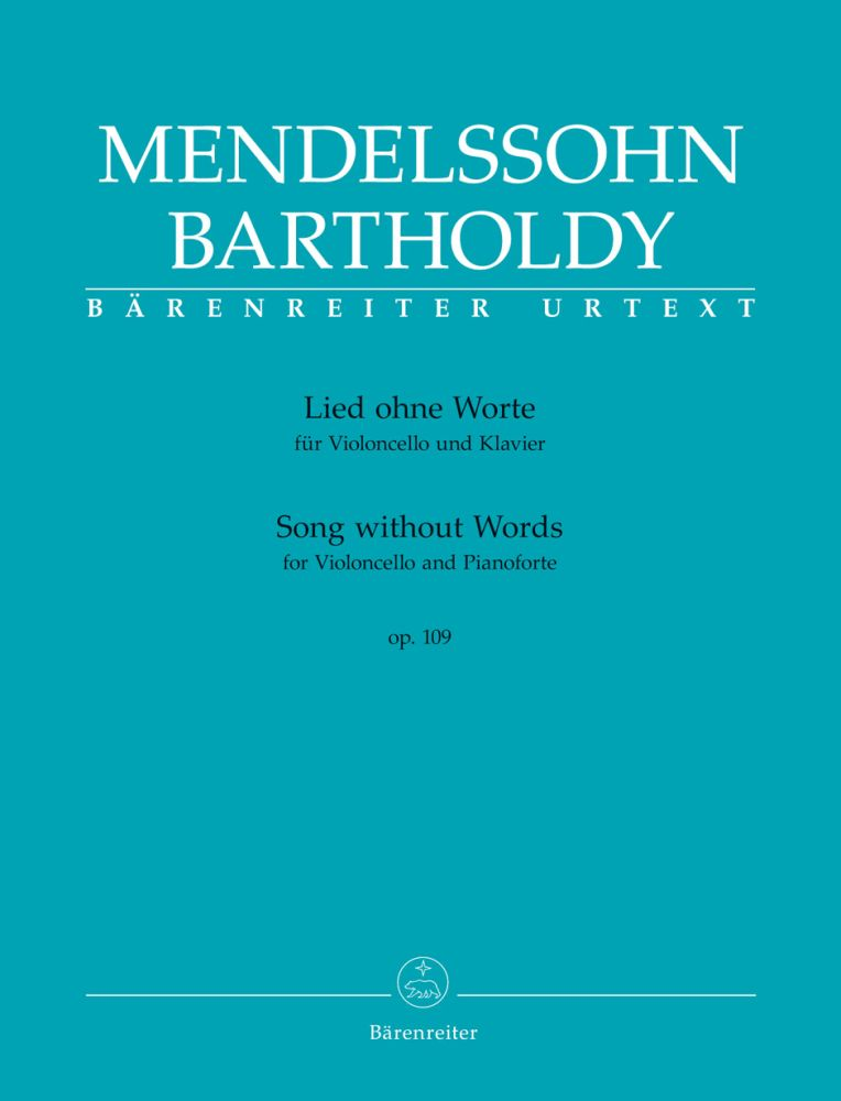 Felix Mendelssohn Bartholdy: Song Without Words: Cello: Score and Parts