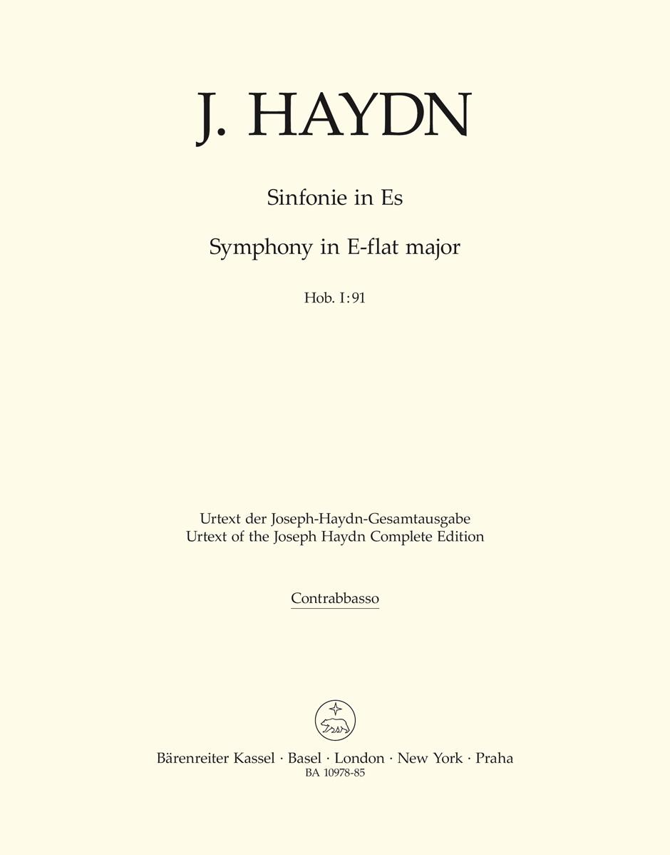Franz Joseph Haydn: Symphony Nr. 91 E-flat major Hob. I:91: Orchestra: Part