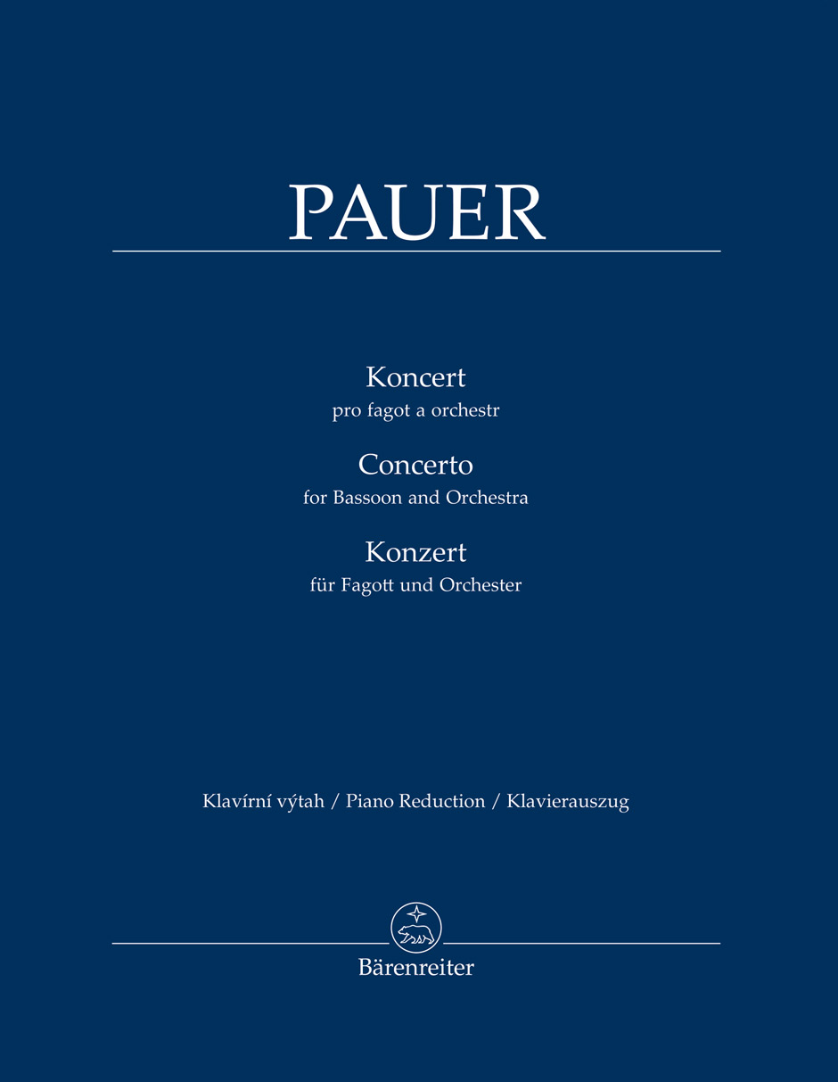 Jiri Pauer: Concerto For Bassoon and Orchestra: Bassoon: Score