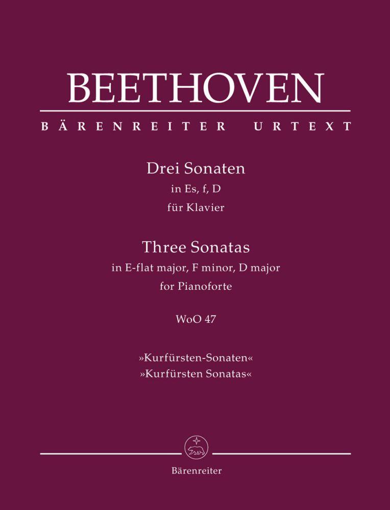 Ludwig van Beethoven: Three Sonates For Pianoforte: Piano: Instrumental Album