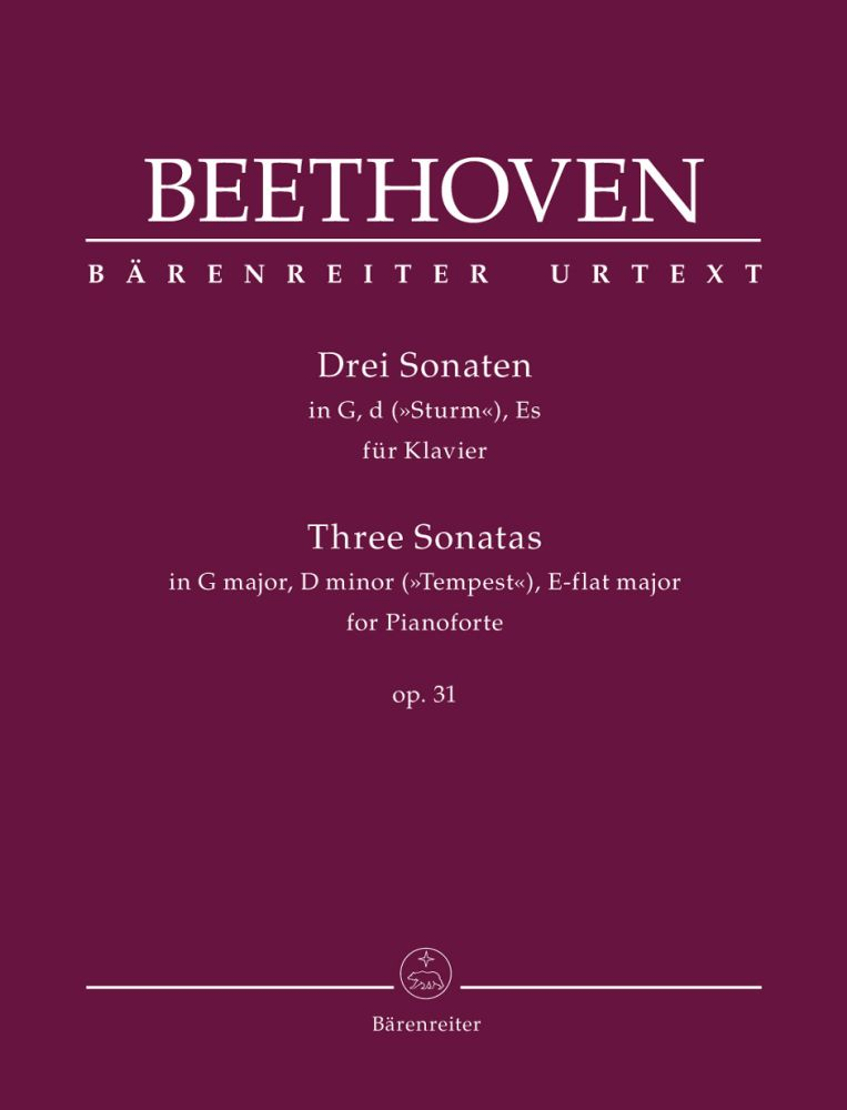 Ludwig van Beethoven: Three Sonatas In G Major  D Minor & E-Flat Major: Piano: