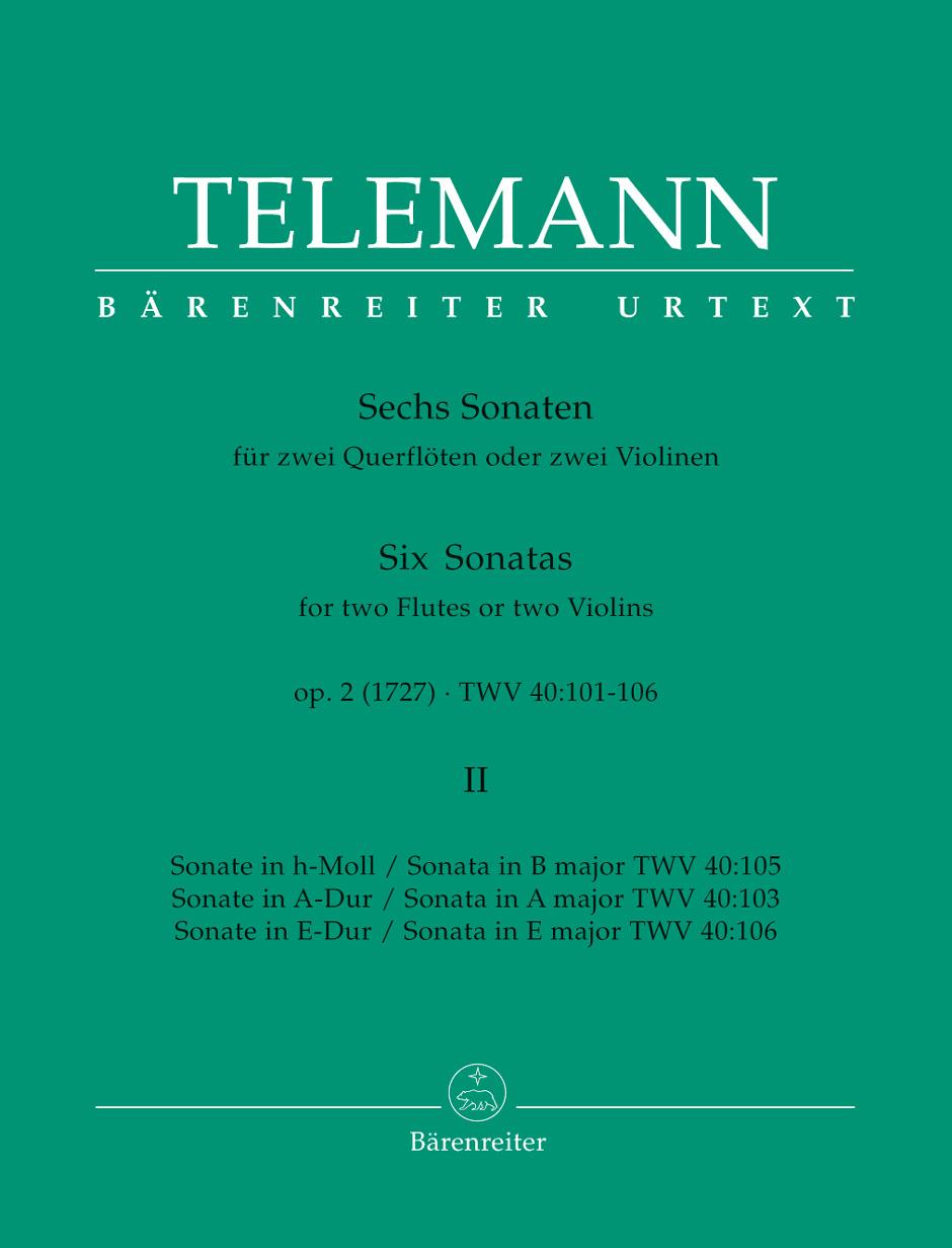 Georg Philipp Telemann: Six Sonatas Op 2 Book 2: Flute Duet: Instrumental Work