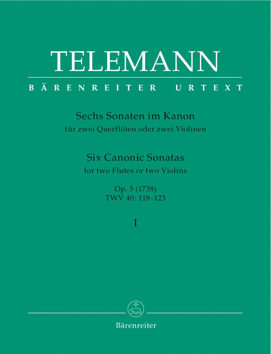 Georg Philipp Telemann: Six Canonic Sonatas: Flute Duet: Instrumental Album