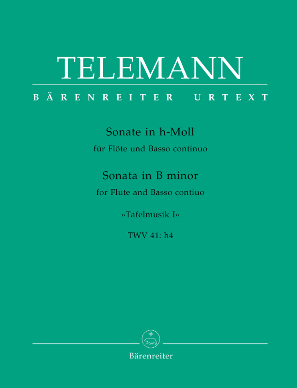 Georg Philipp Telemann: Solo in B minor TWV 41: Flute: Instrumental Work