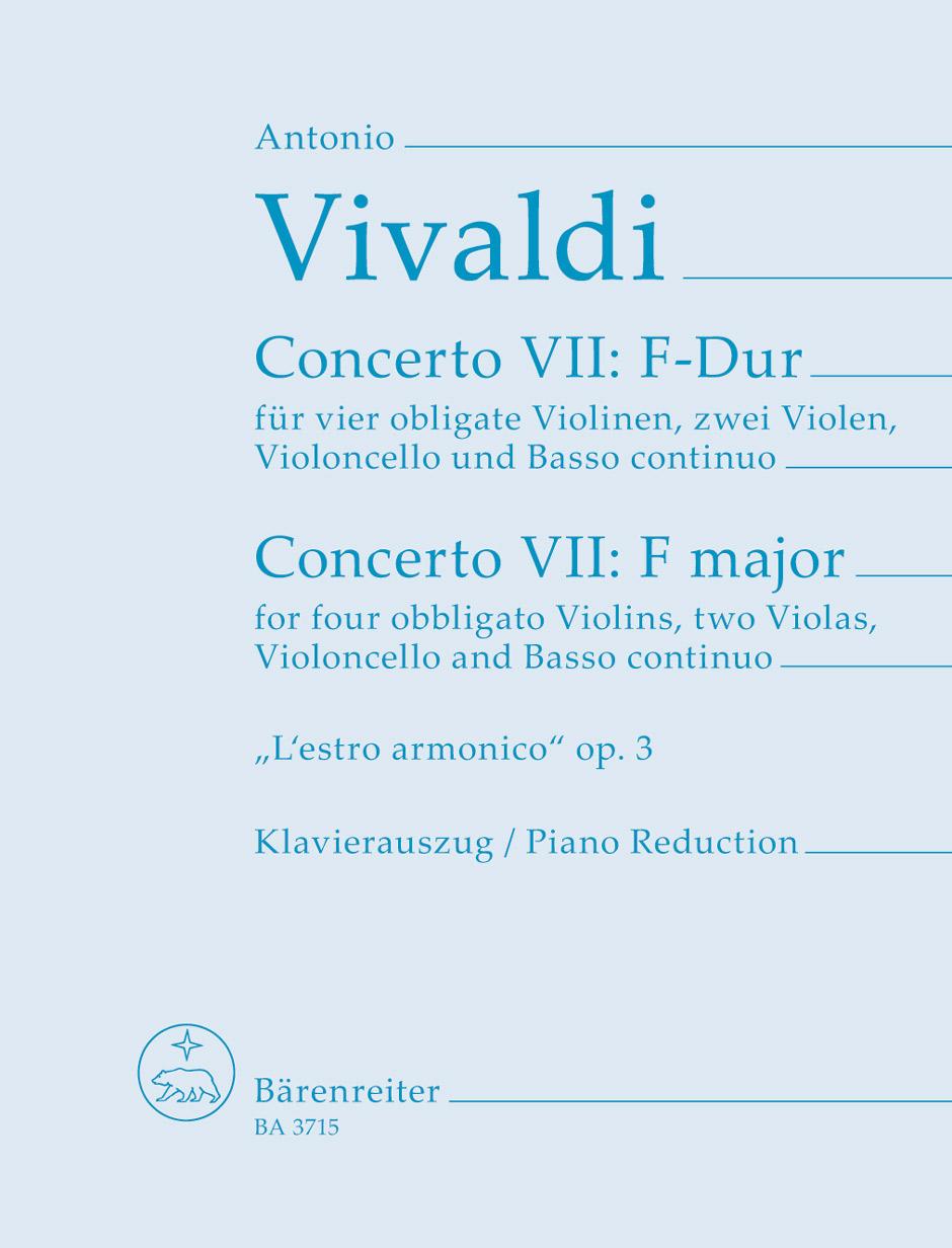 Antonio Vivaldi: Concerto 9 From 'L'Estro Armonico' F Major Op. 3/9: Violin: