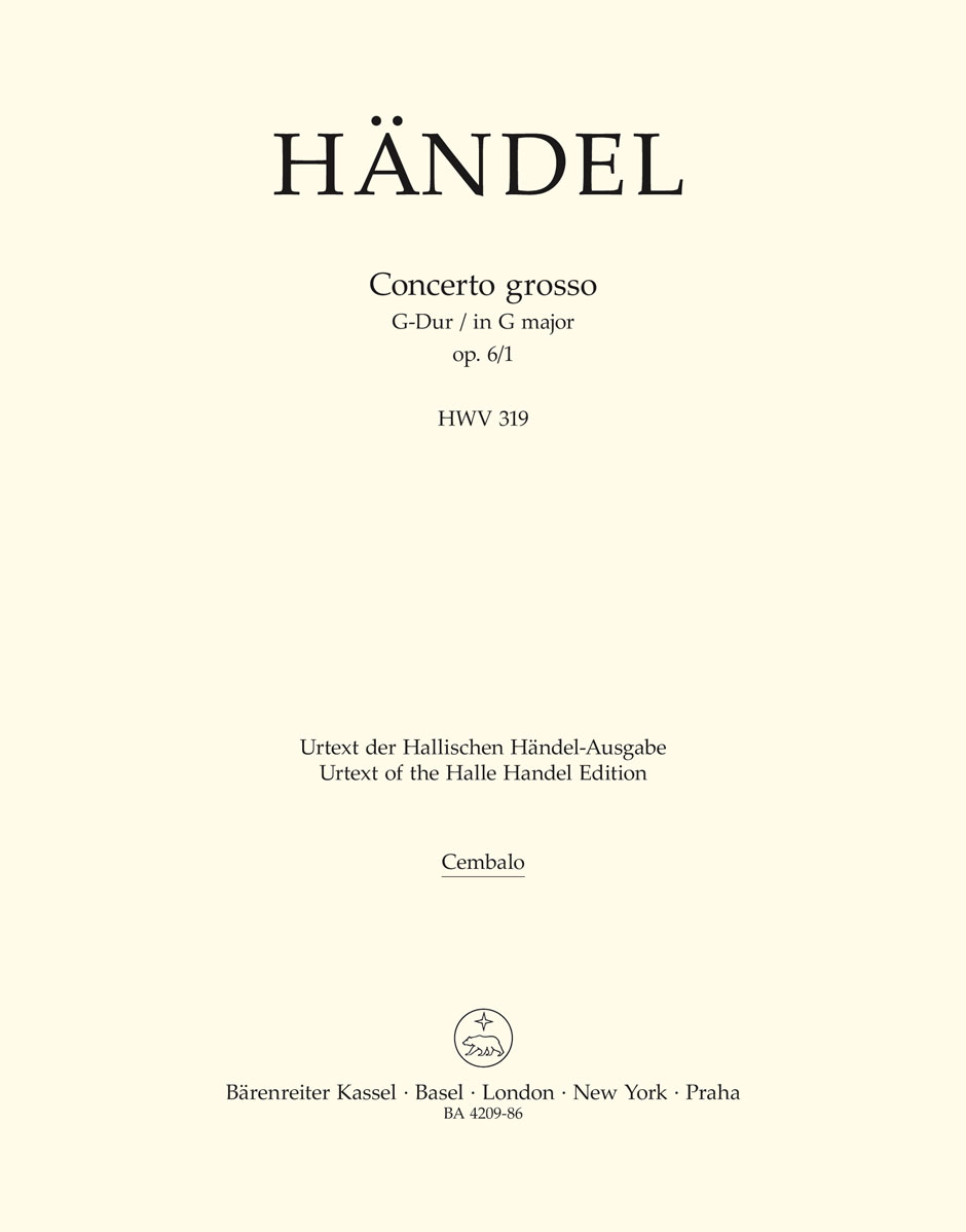 Georg Friedrich Händel: Concerto Grosso In G Major Op.6 No.1: Orchestra: Part