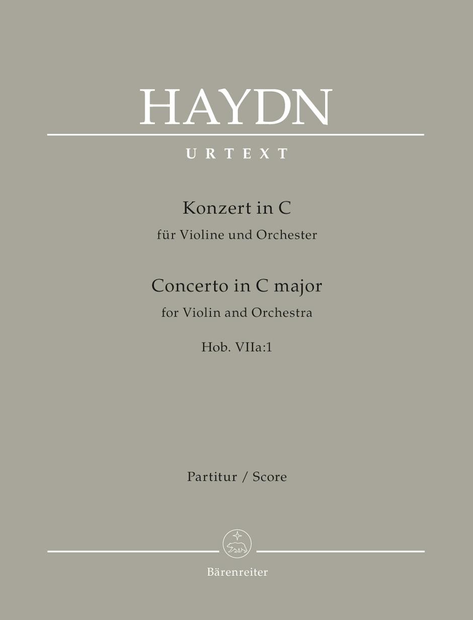 Franz Joseph Haydn: Concerto For Violin In C: Orchestra: Score