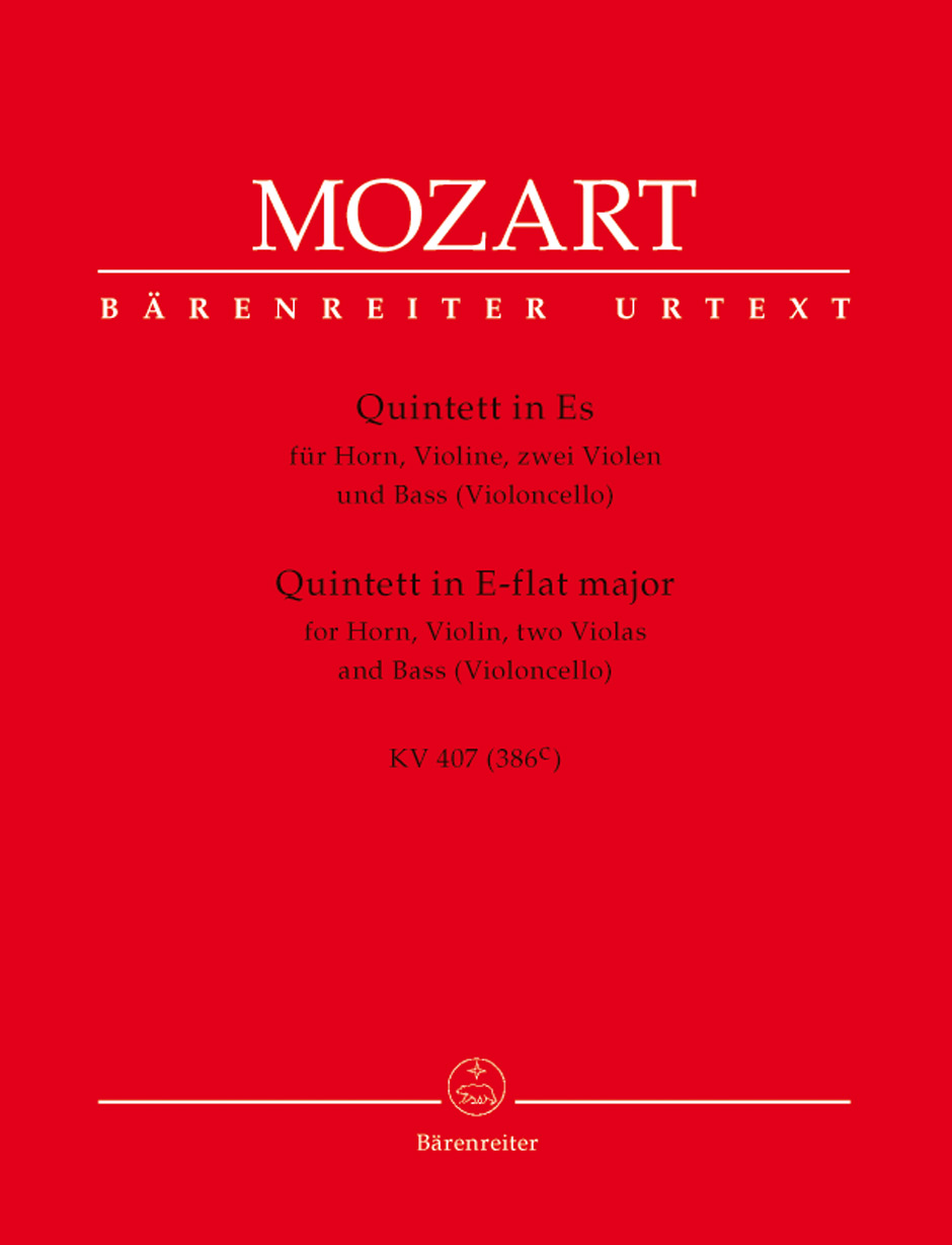 Wolfgang Amadeus Mozart: Horn Quintet K407 Parts: Chamber Ensemble