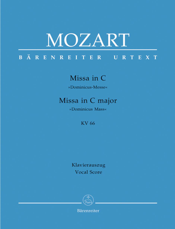 Wolfgang Amadeus Mozart: Missa In C Major K.66: Voice: Vocal Score