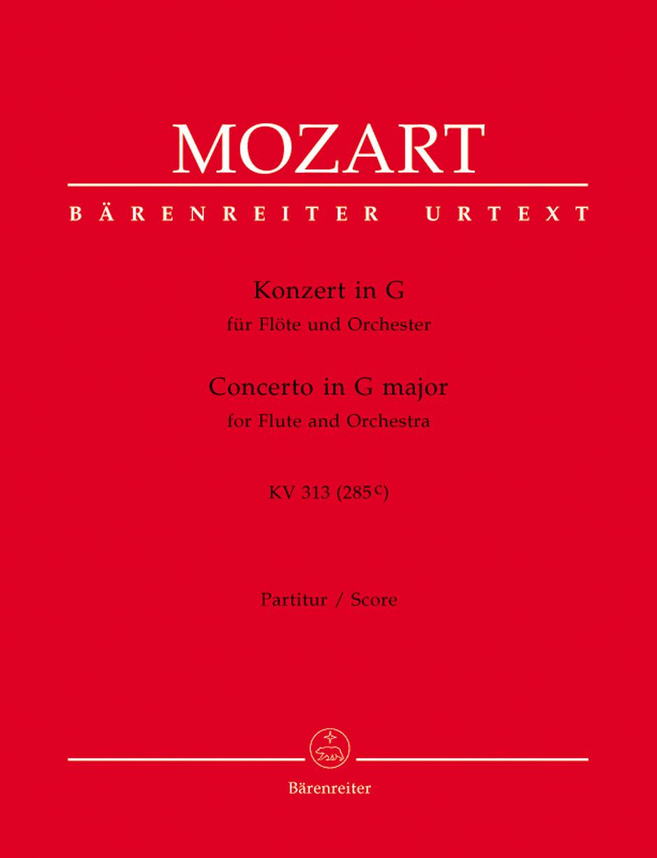 Wolfgang Amadeus Mozart: Concerto in G major for Flute K.313: Flute: Score