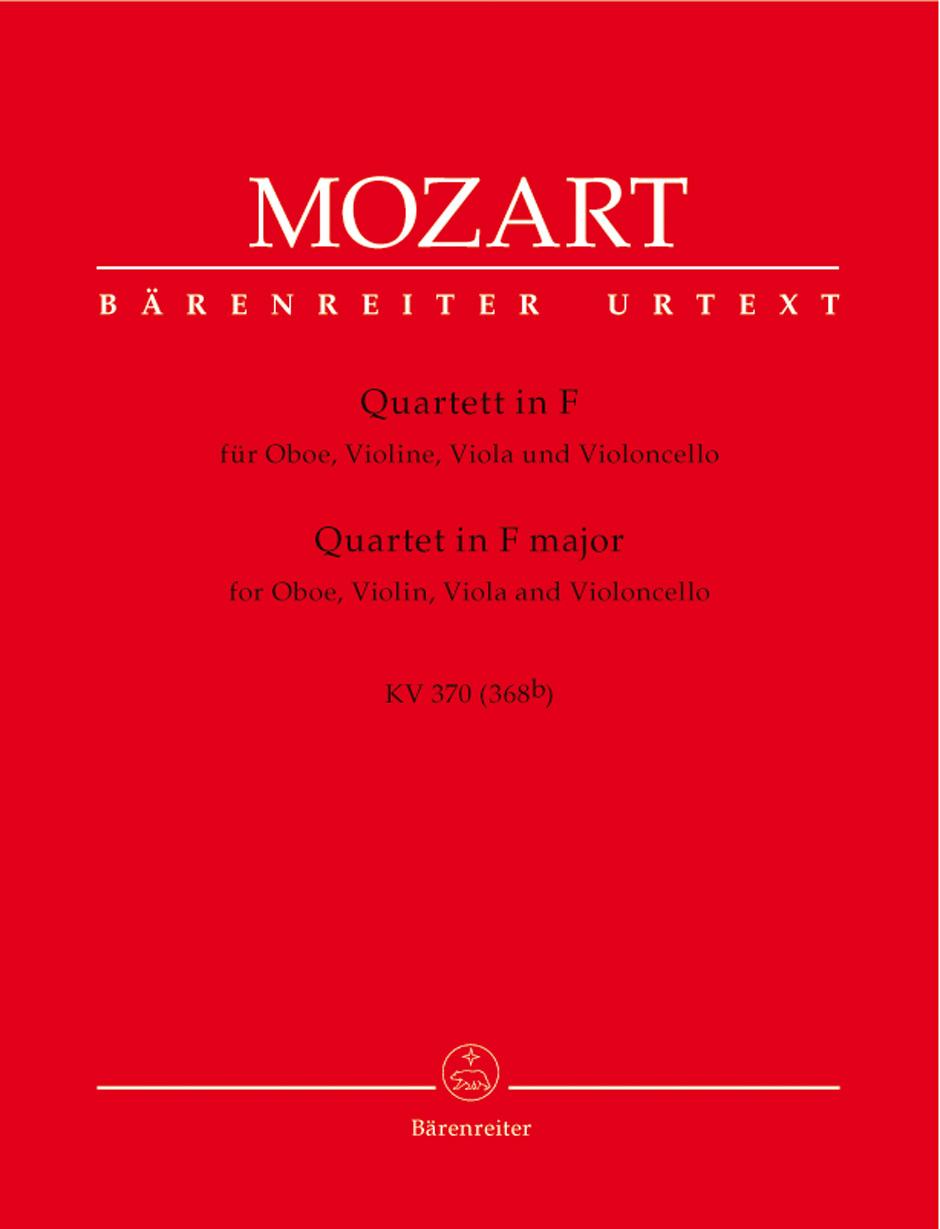 Wolfgang Amadeus Mozart: Oboe Quartet in F: Chamber Ensemble: Parts