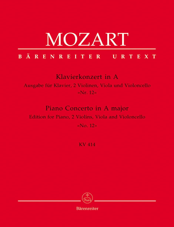 Wolfgang Amadeus Mozart: Piano Concerto No. 12 in A Major K.414: Piano &