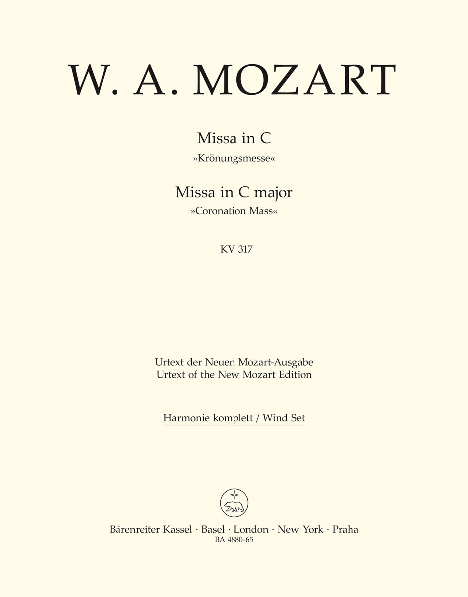 Wolfgang Amadeus Mozart: Missa in C major KV 317