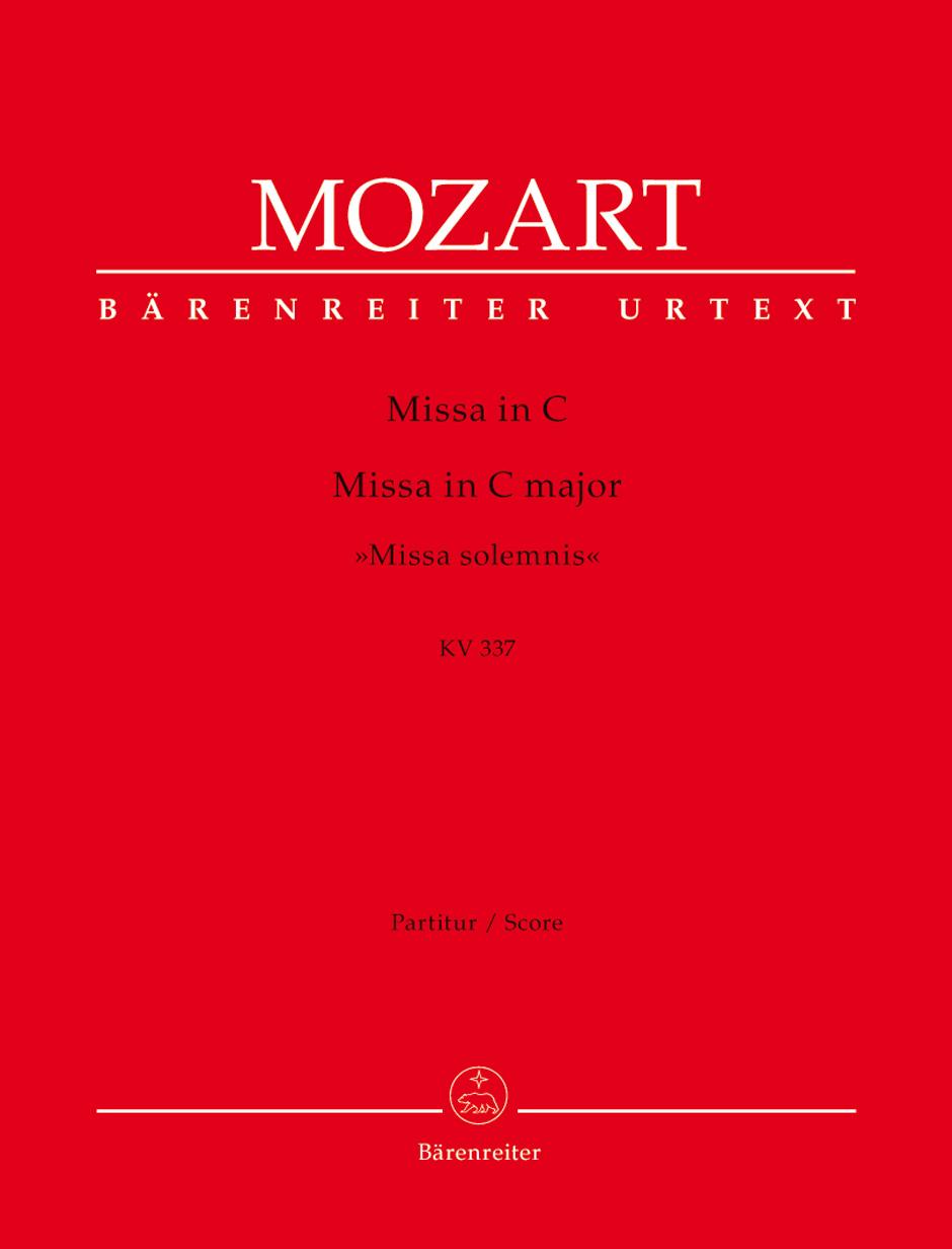 Wolfgang Amadeus Mozart: Missa in C major K.337: Mixed Choir: Score
