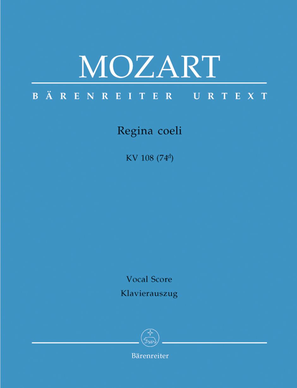 Wolfgang Amadeus Mozart: Regina coeli in C major K.108: Mixed Choir: Vocal Score