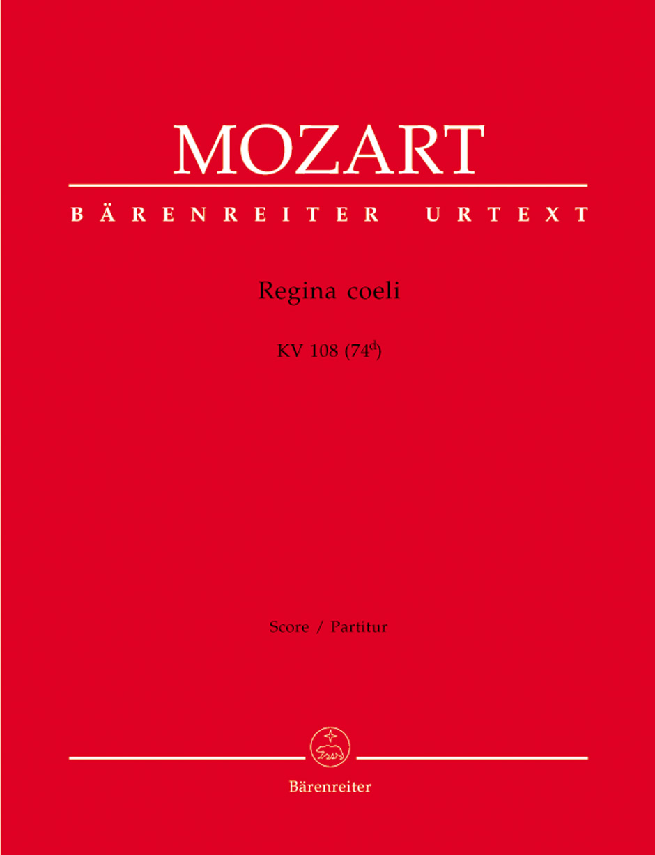 Wolfgang Amadeus Mozart: Regina coeli in C major K.108: Vocal: Score