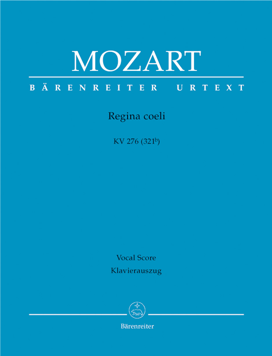 Wolfgang Amadeus Mozart: Regina Coeli In C K.276: Mixed Choir: Vocal Score