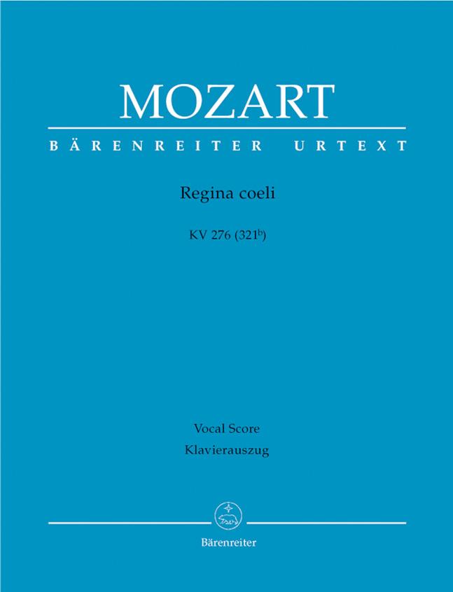 Wolfgang Amadeus Mozart: Regina Coeli In C K.276: Mixed Choir: Score