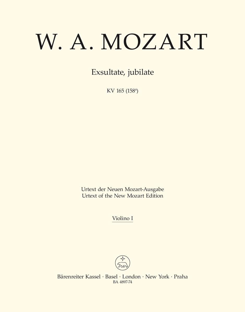 Wolfgang Amadeus Mozart: Exsultate  jubilate K.165: Mixed Choir: Part