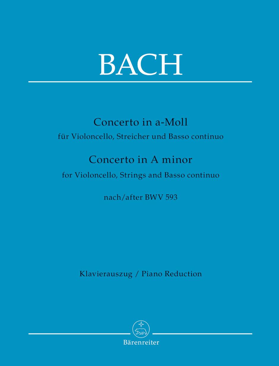 Johann Sebastian Bach: Concerto For Violoncello String And BC A Minor: Cello: