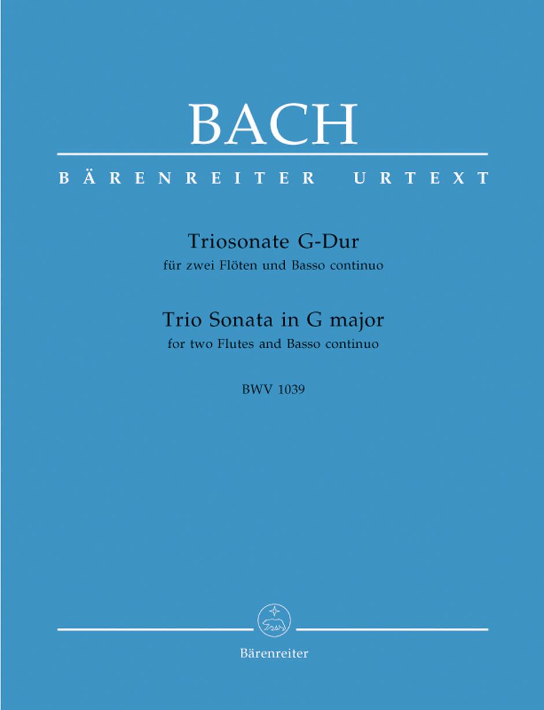 Johann Sebastian Bach: Trio Sonata In G For Two Flutes And Basso Continuo: Flute