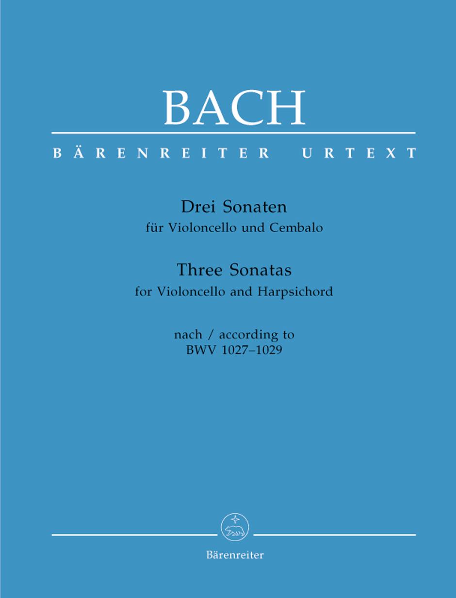 Johann Sebastian Bach: Three Sonatas For Violoncello And Harpsichord: Cello: