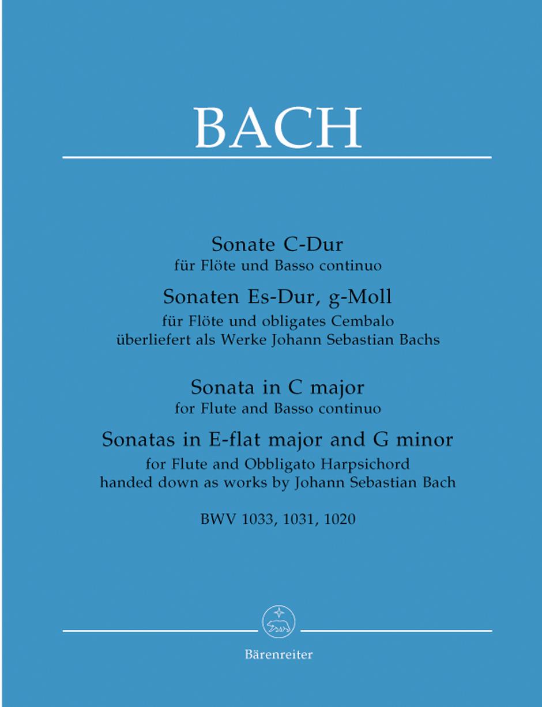 Johann Sebastian Bach: Three Sonatas For Flute And Basso Continuo: Flute: