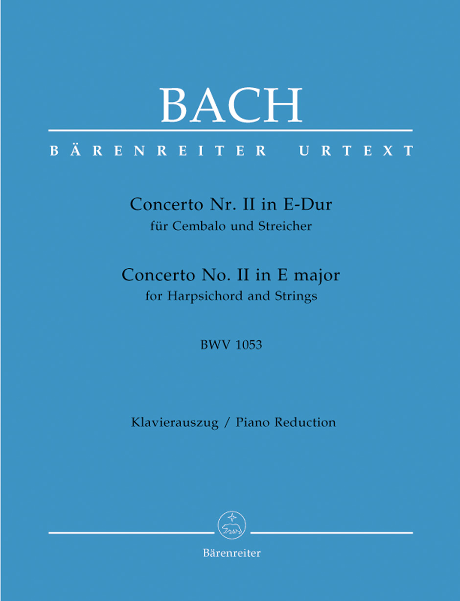 Johann Sebastian Bach: Harpsichord Concerto No.2 in E major: Piano Duet: