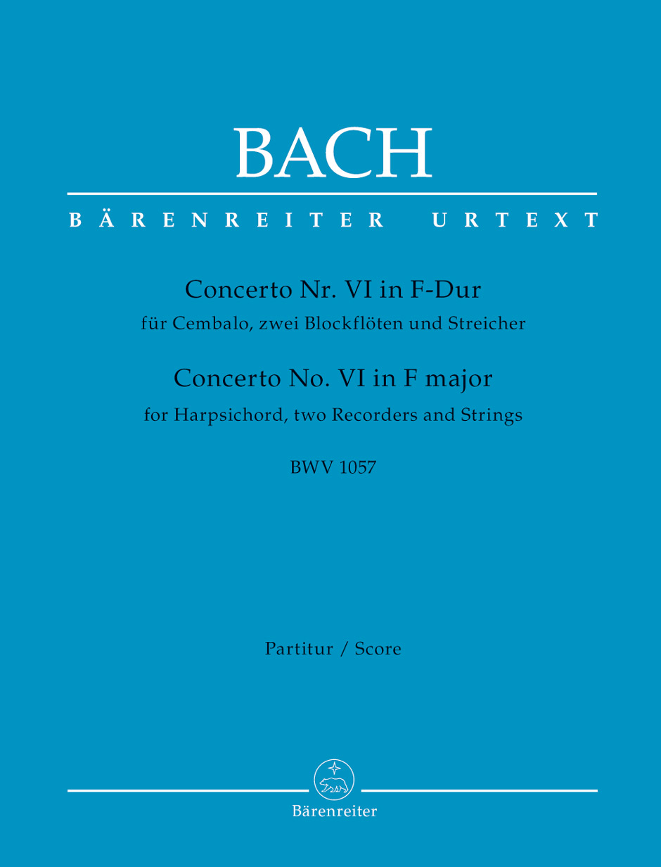 Johann Sebastian Bach: Concerto For Harpsichord No.6 In F Major: Mixed Ensemble: