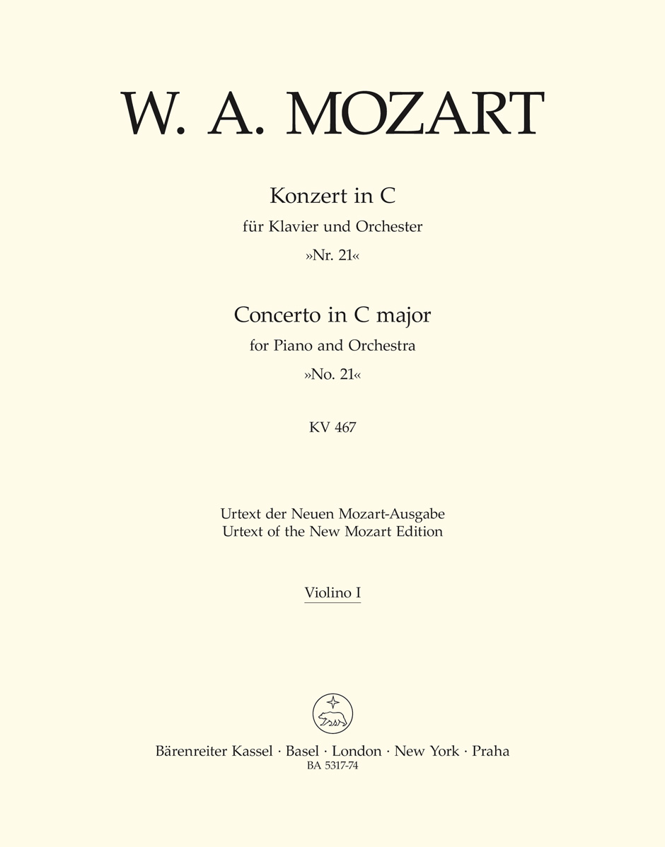 Wolfgang Amadeus Mozart: Piano Concerto No. 21 in C Major KV 467: Piano: Part