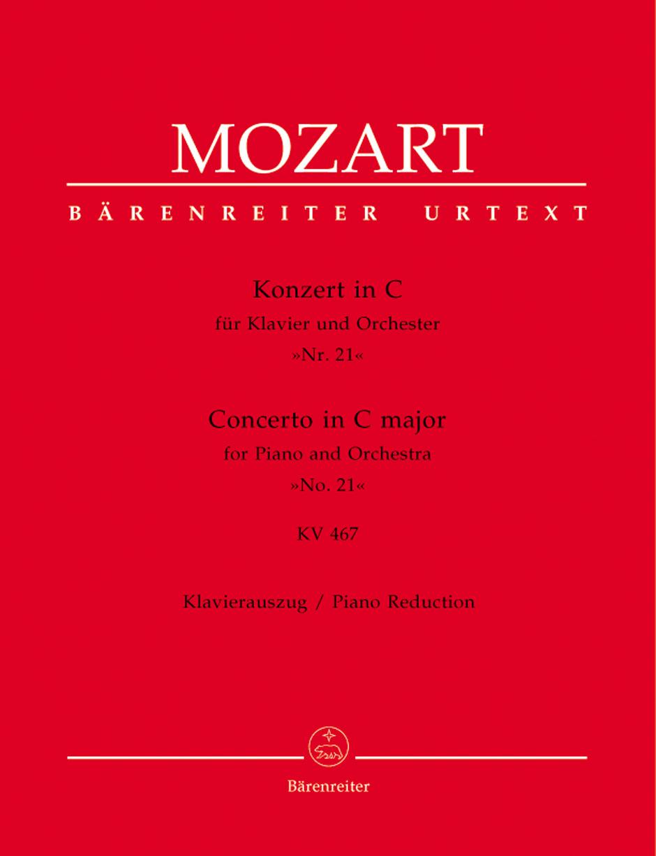 Wolfgang Amadeus Mozart: Piano Concerto No. 21 in C Major KV 467: Piano: