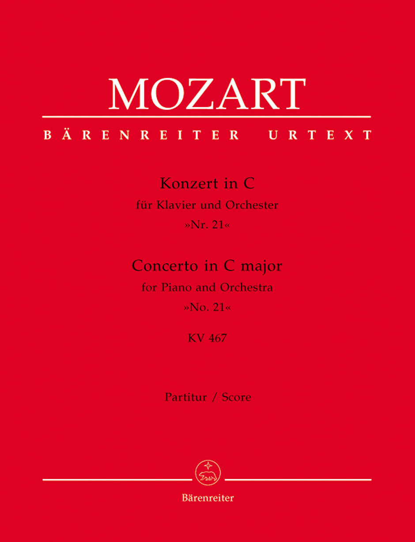 Wolfgang Amadeus Mozart: Piano Concerto No. 21 in C Major KV 467: Piano: Score