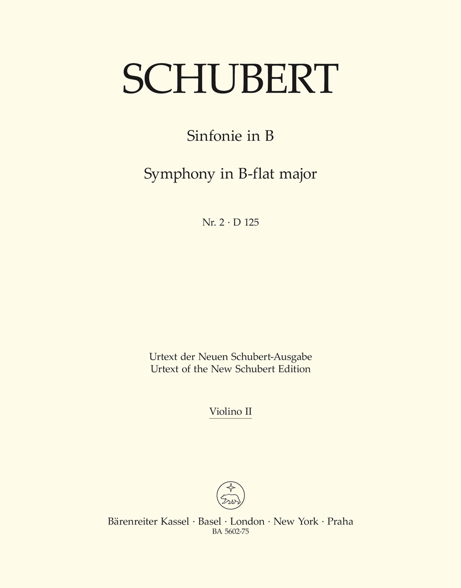 Franz Schubert: Symphony No.2 In B-Flat - D 125: Orchestra: Part