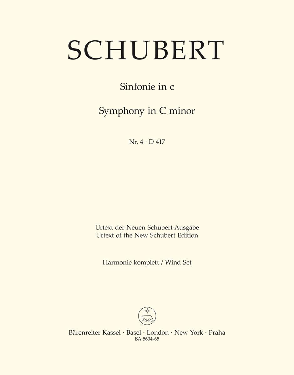 Franz Schubert: Symphony No.4 In C Minor - D 417 Tragic: Orchestra: Parts