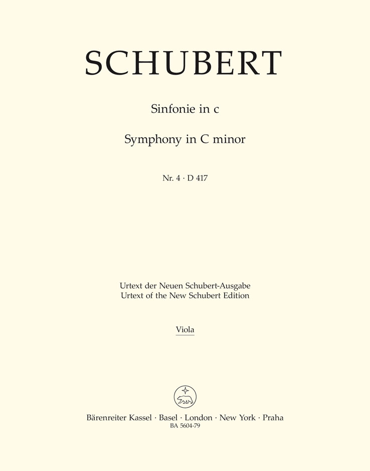 Franz Schubert: Symphony No.4 In C Minor - D 417 Tragic: Orchestra: Part