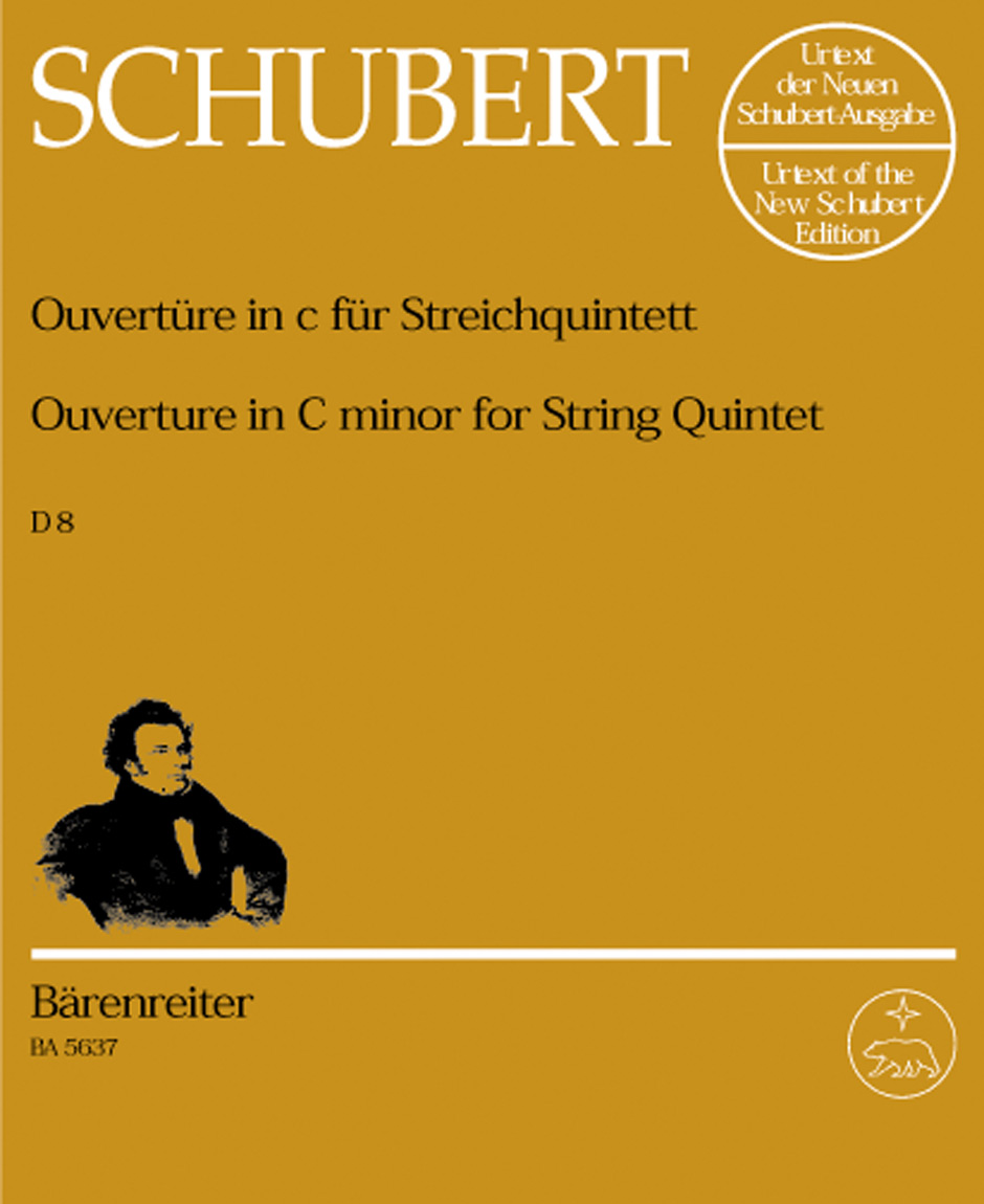 Franz Schubert: Overture In C Minor For String Quintet: String Quintet: Parts