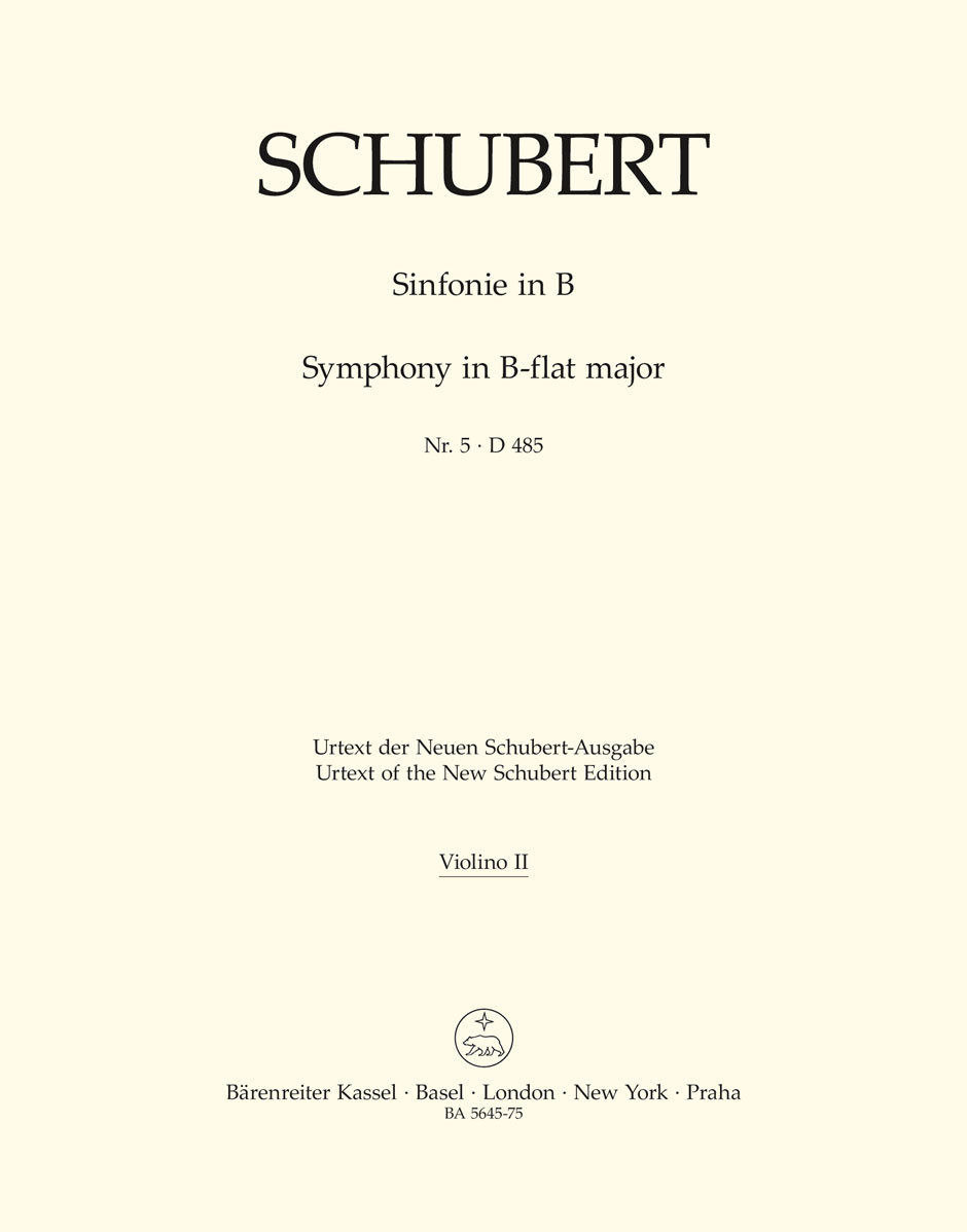 Franz Schubert: Symphony No.5 In B-Flat D 485: Orchestra: Part