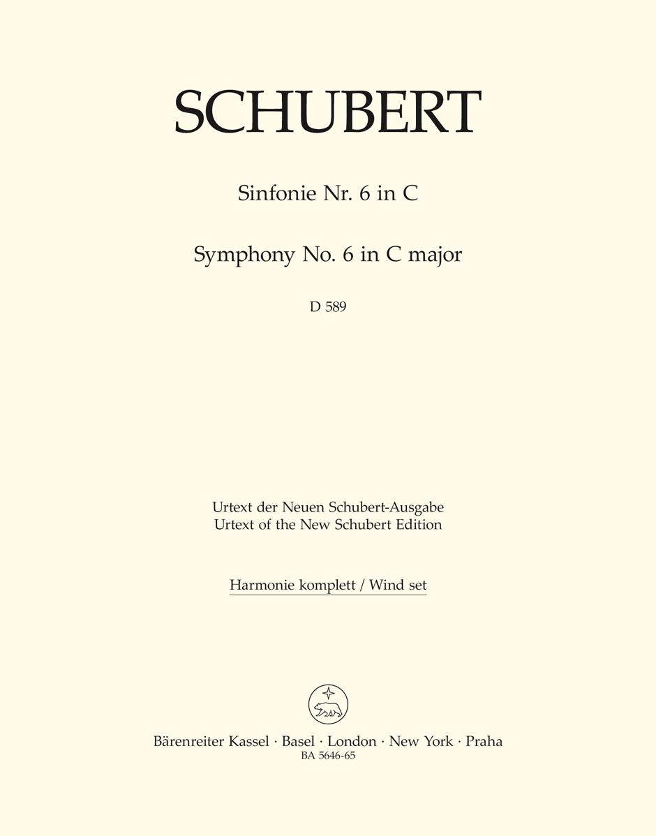 Franz Schubert: Symphony No.6 In C D 589: Orchestra: Parts