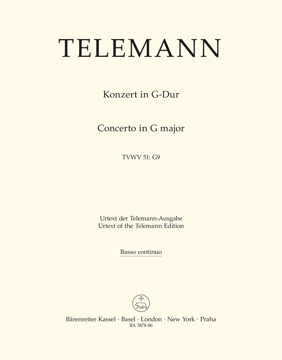 Georg Philipp Telemann: Concerto in G major TWV 51: Viola: Part