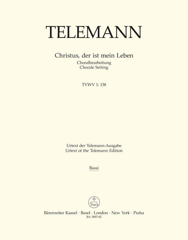Georg Philipp Telemann: Christus  Der Ist Mein Leben: SATB: Part
