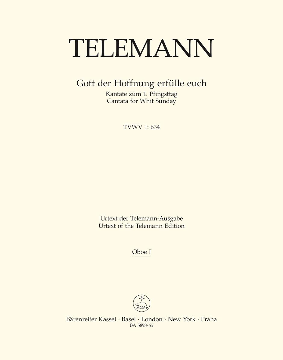Georg Philipp Telemann: Gott Der Hoffnung Erfülle Euch: Mixed Choir: Parts