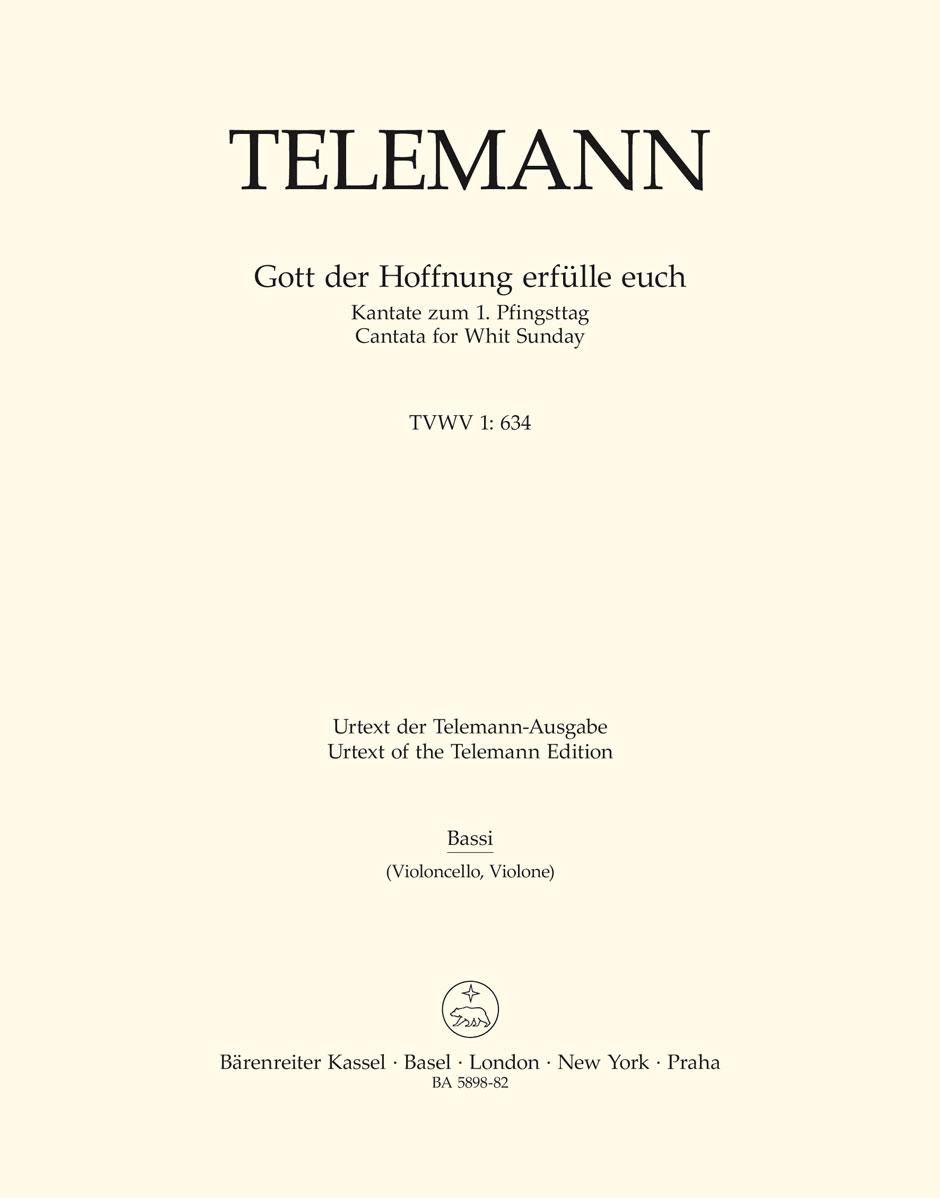 Georg Philipp Telemann: Gott Der Hoffnung Erfülle Euch: Mixed Choir: Part