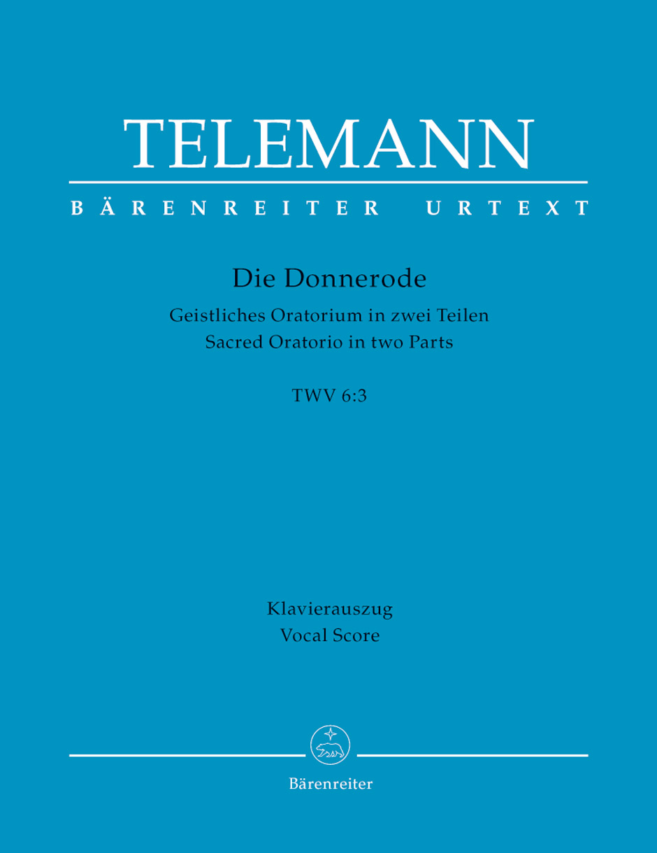 Georg Philipp Telemann: Die Donnerode TVWV 6: Mixed Choir: Vocal Score