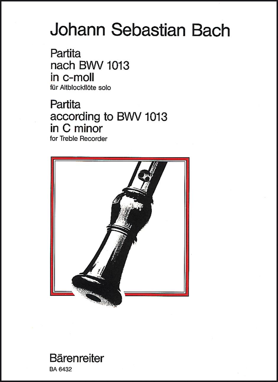 Johann Sebastian Bach: Partita For Solo Treble Recorder In C minor: Treble