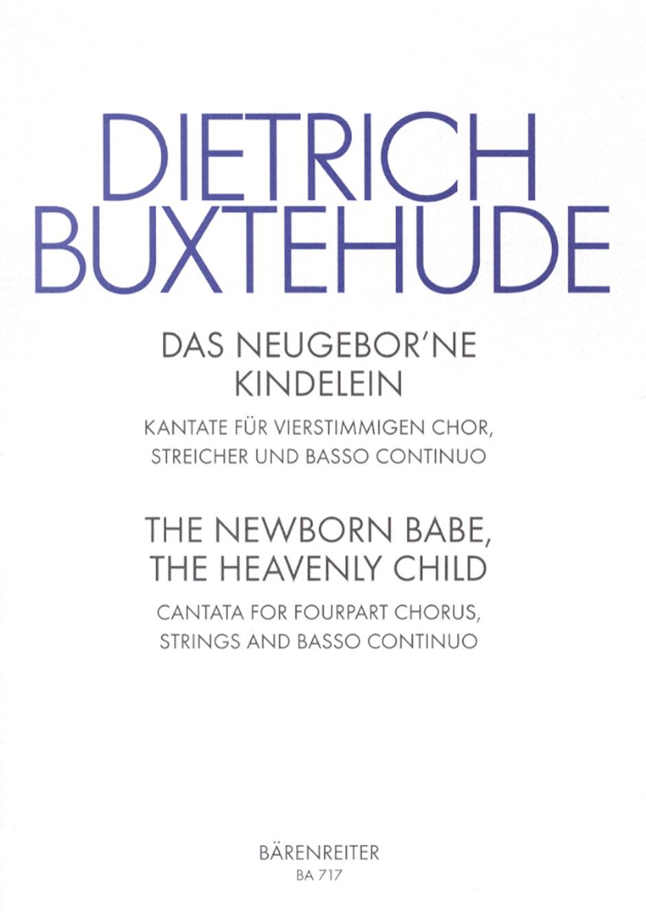 Dietrich Buxtehude: Das neugeborne Kindelein (PA): SATB: Score and Parts