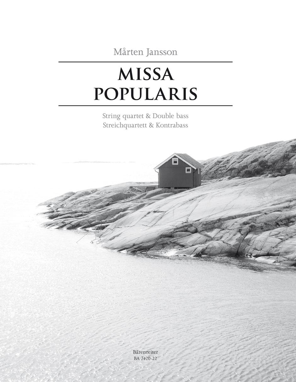 Mårten Jansson: Missa Popularis: String Orchestra: Parts