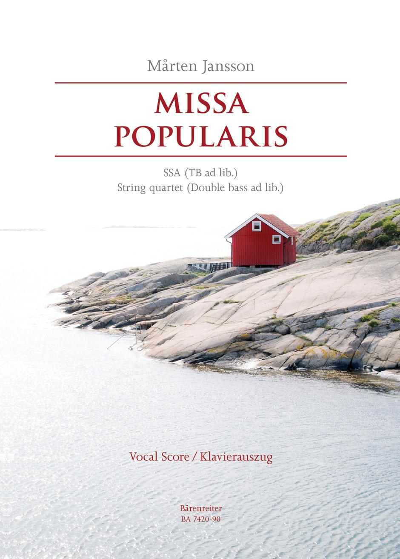 Mårten Jansson: Missa Popularis: SSA: Vocal Score