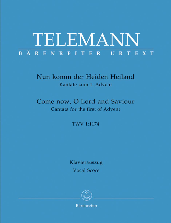 Georg Philipp Telemann: Nun Komm Der Heiden Heiland: Piano: Vocal Score