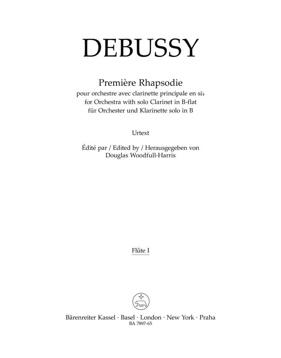 Claude Debussy: Première Rhapsodie: Orchestra: Part