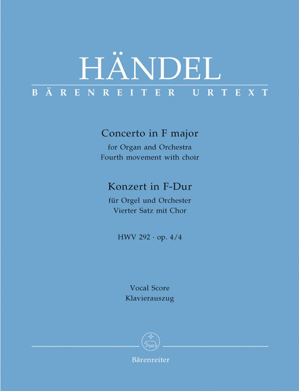 Georg Friedrich Händel: Concert 4 F Op.4 (4E Satz Mit: Piano: Vocal Score